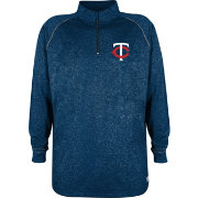 Stitches Men's Minnesota Twins Navy Quarter-Zip Pullover Fleece