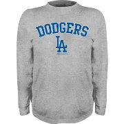 Stitches Youth Los Angeles Dodgers Grey Long Sleeve Shirt