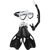 Speedo Adult Adventure Mask, Snorkel & Fin Snorkeling Set