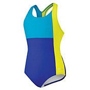 Speedo Girls' Colorblock Splice Ultraback Swimsuit