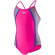 Speedo Girls' Heather Spice Swimsuit