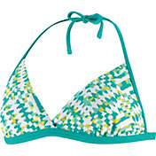 Speedo Women's Geotropic Print Halter Swim Top