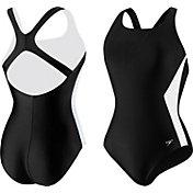 Speedo Women's Illusion Splice Ultraback Swimsuit