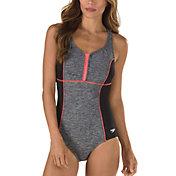 Speedo Women's Texture Touchback Swimsuit