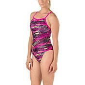 Speedo Women's Fragments Drill Back Swimsuit