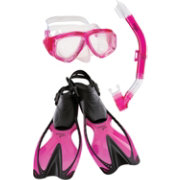 Speedo Youth Adventure Mask, Snorkel & Fin Snorkeling Set