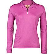Sport Haley Women's Daphne Foil Print Long Sleeve Golf Polo