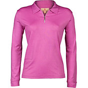 Sport Haley Women's Daphne Foil Print Long Sleeve Golf Polo