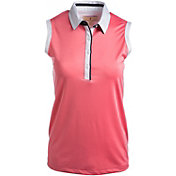 Sport Haley Women's Penelope Solid Sleeveless Golf Polo