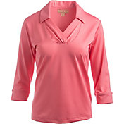 Sport Haley Women's Shannon Three-Quarter Sleeve Golf Polo
