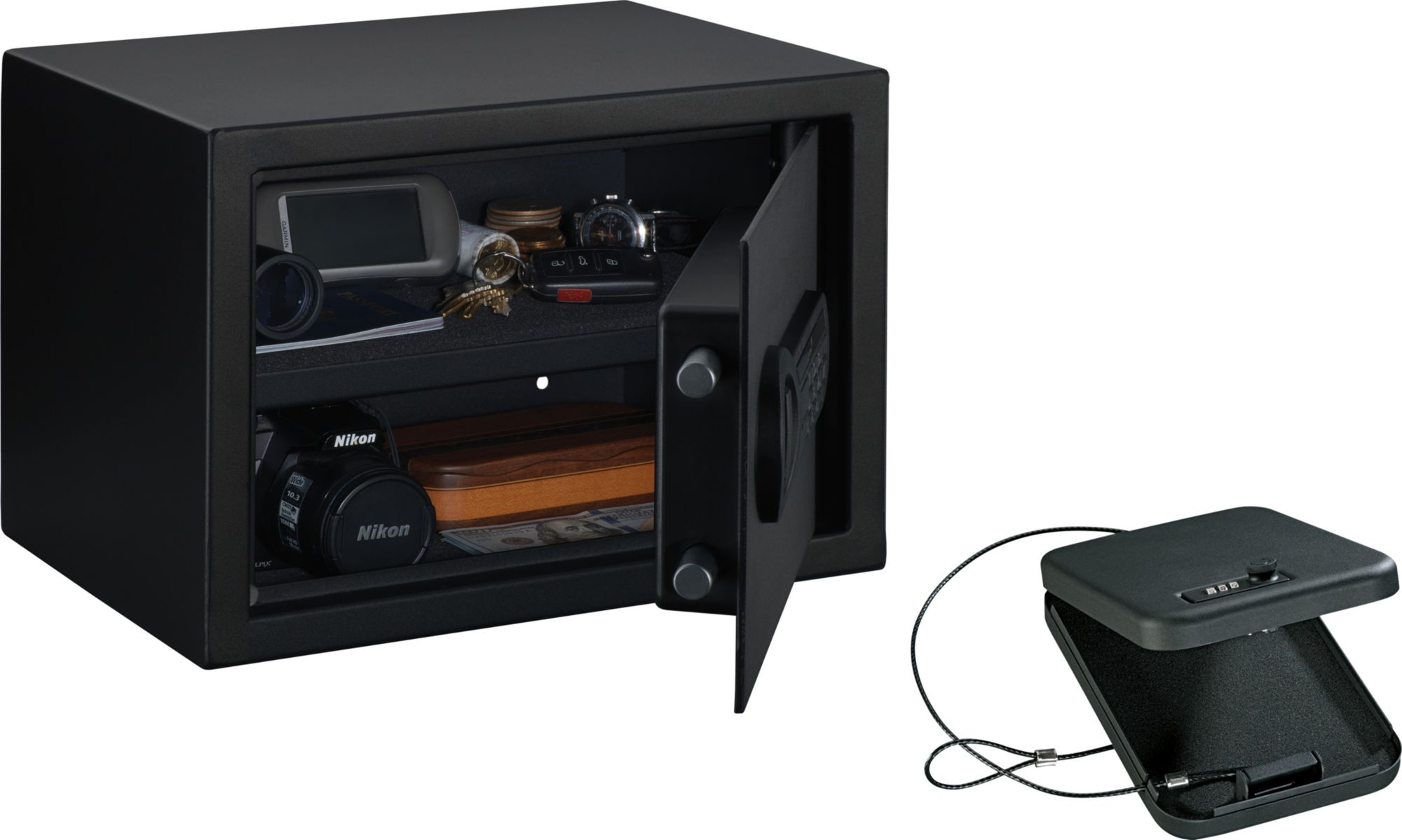 Product Image · Stack On Electronic Personal Safe With Portable Combination  Security Case