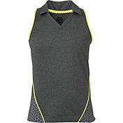 Slazenger Girls' Perforated Sleeveless Golf Polo