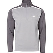 Slazenger Men's Heather Colorblock Half-Zip Golf Pullover
