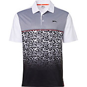 Slazenger Men's Ashen Fractured Print Golf Polo