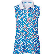 Slazenger Women's Luminescent Collection Fracture Sleeveless Golf Polo
