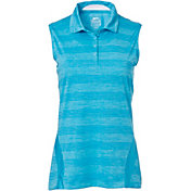 Slazenger Women's Luminescent Collection Space Dye Sleeveless Golf Polo