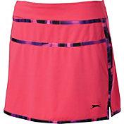 Slazenger Women's Neon Collection Marble Trim Knit Golf Skort
