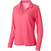 Slazenger Women's Tech Thin Stripe Long Sleeve Golf Polo