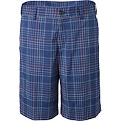 Slazenger Boys' Adjustable Waistband Plaid Golf Shorts