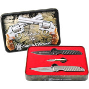 Smith & Wesson 3 Piece Folding Knife and Tin Package
