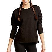 Soffe Women's French Terry Throwback Crop Sweatshirt