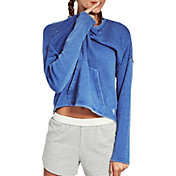 Soffe Women's Throwback Cropped Long Sleeve Shirt