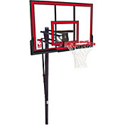 "Spalding 48"" Polycarbonate In-Ground Basketball Hoop"