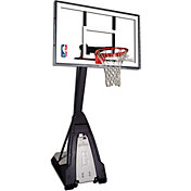 "Spalding Beast 60"" Glass Portable Basketball Hoop"
