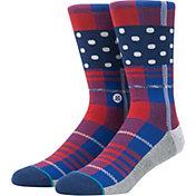 Stance Wade Polka Plaid Crew Socks