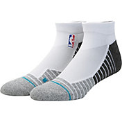 Stance NBA Coaches Low Crew White Socks