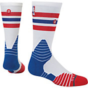Stance NBA Thin Stripe Red Crew Socks