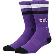 Stance TCU Horned Frogs Striped Socks