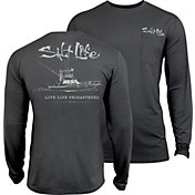 Salt Life Men's Unchartered SLX UVapor Long Sleeve Shirt