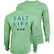 Salt Life Men's Water Icons SLX UVapor Performance Long Sleeve Shirt