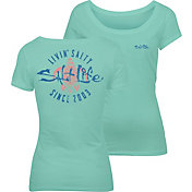 Salt Life Women's Livin' Salty Turtle T-Shirt