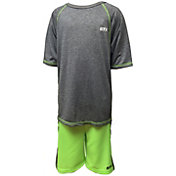 STX Little Boys' Marled Cationic T-Shirt and Mesh Shorts Lacrosse Set