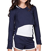 Tail Girls' Kenley Long Sleeve Cropped Hi-Low Pullover