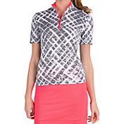Tail Women's Crosshatch Mock Neck Golf Shirt