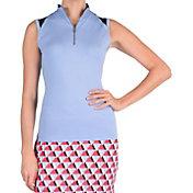 Tail Women's Mist Mock Neck Sleeveless Golf Shirt