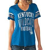 Touch by Alyssa Milano Women's Kentucky Wildcats Blue Motion Football T-Shirt