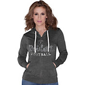 Touch by Alyssa Milano Women's Oakland Raiders Tri-Blend Full-Zip Black Hoodie