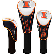 Team Effort Illinois Fighting Illini Headcover Set - 3-Pack