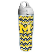 Tervis Michigan Wolverines Clear Chevron 24oz Water Bottle