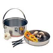 Texsport Stainless Steel Combination Fry Pan and Cook Pot