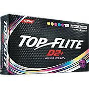Top Flite Women's D2+ Diva Neon Golf Balls – 15-Pack