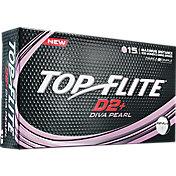 Top Flite Women's D2+ Diva Pearlescent Golf Balls – 15-Pack