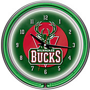 Trademark Games Milwaukee Bucks 14'' Neon Clock