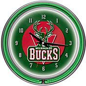Trademark Games Milwaukee Bucks 14'' Neon Clock