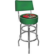 Trademark Games Milwaukee Bucks Padded Swivel Bar Stool with Back