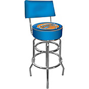 Trademark Games New York Knicks Padded Swivel Bar Stool with Back